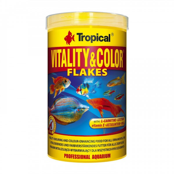 Fischfutter TROPICAL Vitality&Color 1 Liter