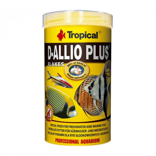 Fischfutter TROPICAL D-Allio Plus Flakes, 500 ml