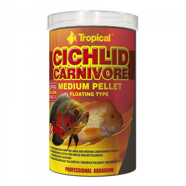 Fischfutter TROPICAL Carnivore Medium Pellet, 1 Liter