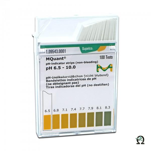 MColorpHast pH-Indikatorstäbchen pH 6,5-10,0 100 Stück