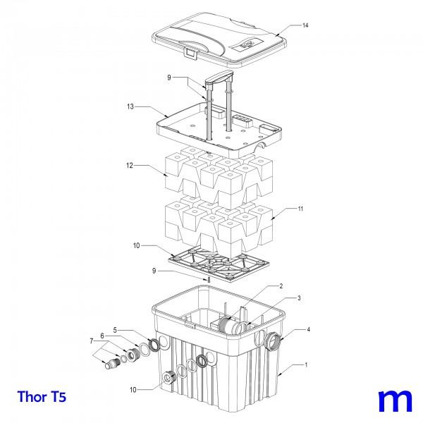 Gartenteichfilter Thor T5, Bild Nr. 11 HERZ Filterschwamm grobporig schwarz 26x19x10cm