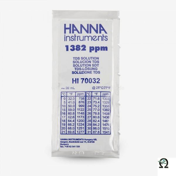 Hanna TDS-Kalibrierlösung HI70032 1382 ppm (mg/l) Portionsbeutel