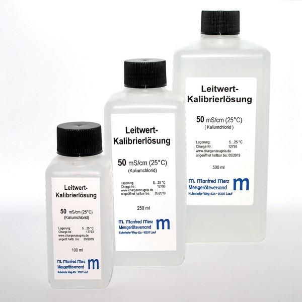 EC-Kalibrierlösung 50 mS/cm mit Analysezertifikat - Leitwertkalibrierlösung