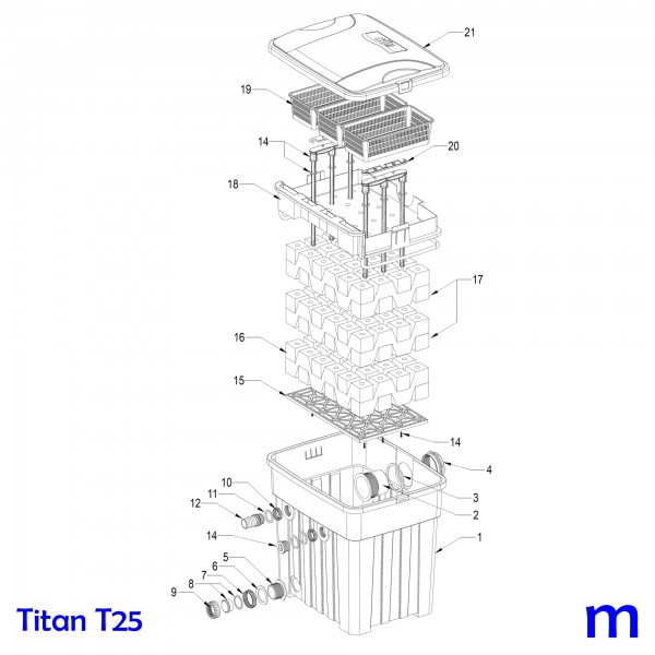Gartenteichfilter Titan T25, Bild Nr. 20 Distanzhalter für Griff bei SÖLL Titan T25/T50
