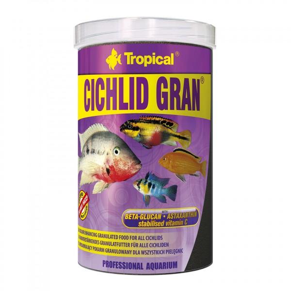 Fischfutter TROPICAL Cichlid Gran 1 Liter