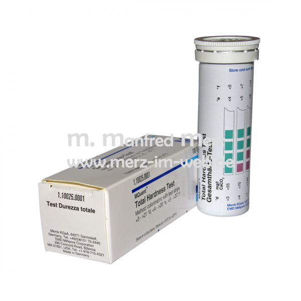 Merckoquant® Gesamthärte-Teststäbchen 100 Stück