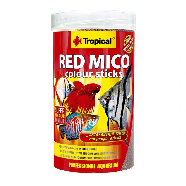 Zierfischfutter TROPICAL Red Mico Colour Sticks 250 ml