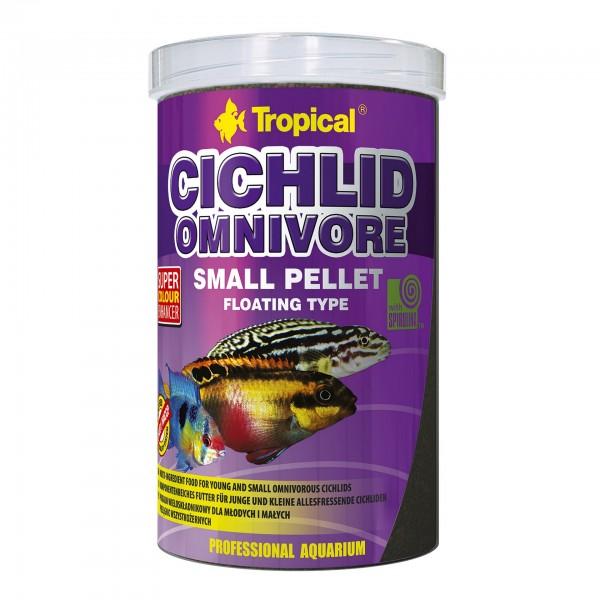 Fischfutter TROPICAL Omnivore Small Pellet, 1 Liter