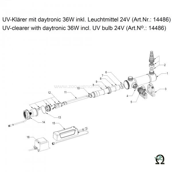 SÖLL UV-Klärer mit daytronic 36W, Bild Nr. 1 Gehäuse f. SÖLL UV-Klärer 36W