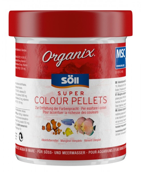 Zierfischfutter Organix Super Colour Pellets 60g (130 ml)