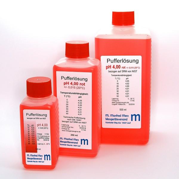 Pufferlösung pH 4,0 mit Analysezertifikat