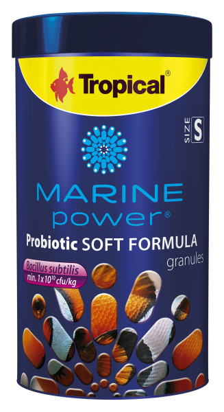 Tropical Fischfutter Meerwasserfischfutter Marine Power Probiotic Soft Formula S 250ml