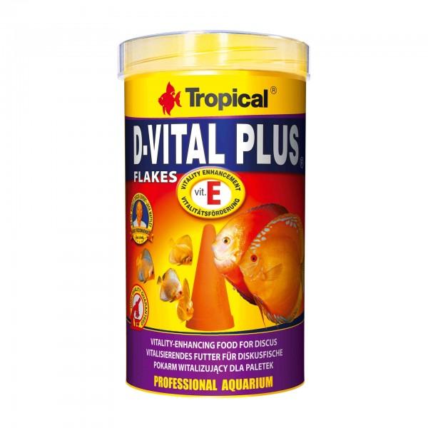Fischfutter TROPICAL D-Vital Plus Flakes, 500 ml