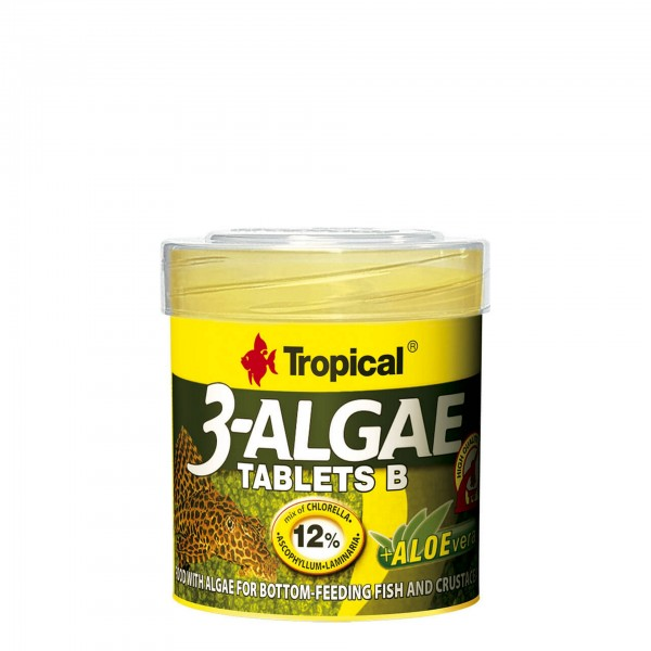 Zierfischfutter Tropical 3-Algae Tablets B 50 ml