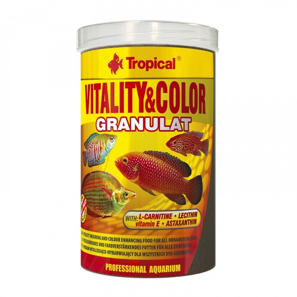 Fischfutter TROPICAL Vitality & Color Granulat 1 Liter