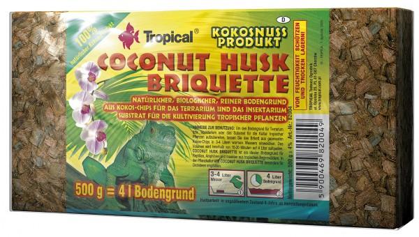 Tropical Bodengrund Coconut Husk Briquette - Kokos-Chips