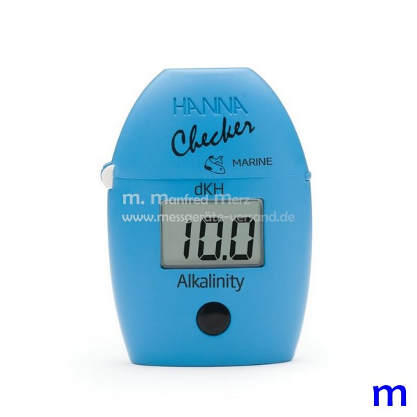 Mini-Photometer Checker® HI772 f. Alkalinität (ºdKH) im Seewasser