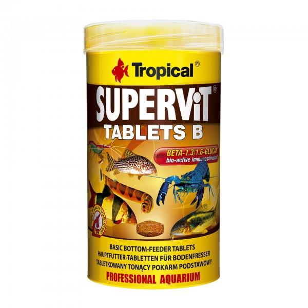 Fischfutter TROPICAL Supervit Tablets B - Bodentabletten, 250ml