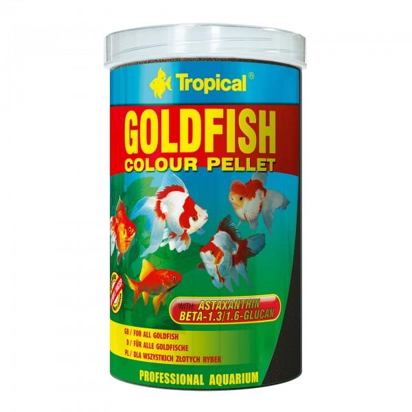 Fischfutter TROPICAL Goldfisch Colour Pellet 1 Liter
