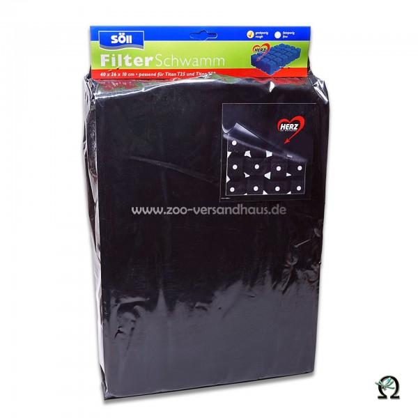 HERZ Filterschwamm grobporig schwarz 40x26x10cm