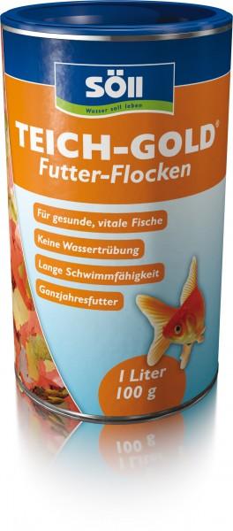 SÖLL TEICH-GOLD Futter-Flocken 1Liter