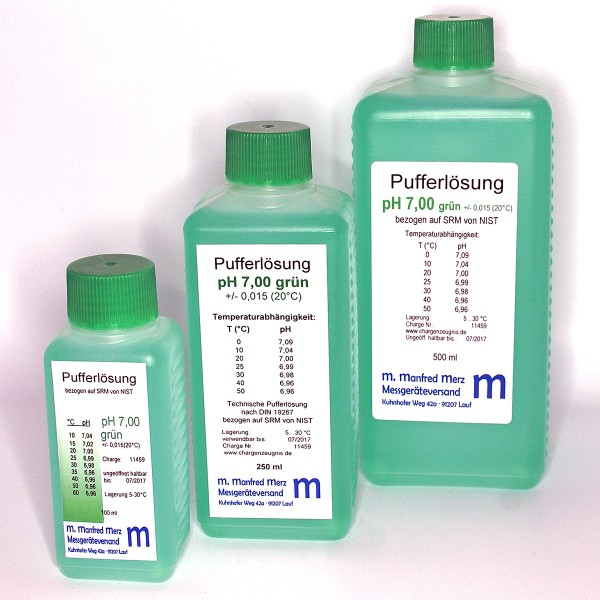 Pufferlösung pH 7,0 mit Analysezertifikat