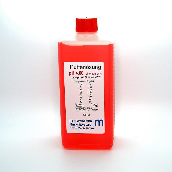 Pufferlösung pH 4,0 mit Analysezertifikat, 500ml