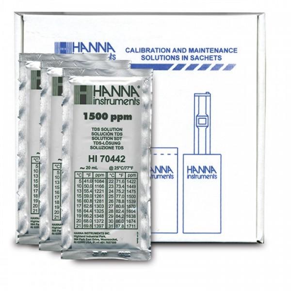 Hanna TDS-Kalibrierlösung 1500 ppm (mg/l) im Portionsbeutel
