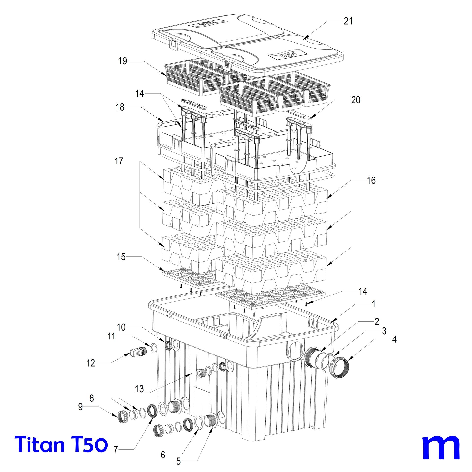 SÖLL HERZ Filterschwamm grobporig für Teichfilter TITAN T25 und TITAN T50