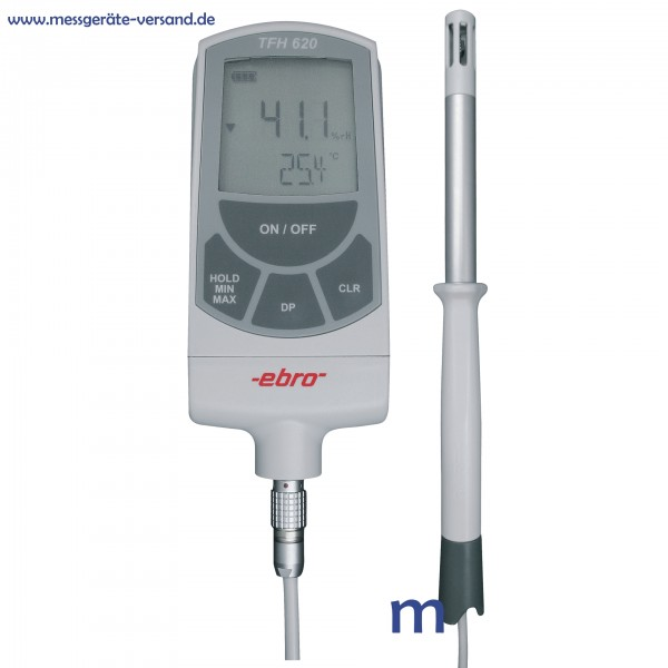 Hygrometer ebro TFH 620 mit Luftfühler TPH 100