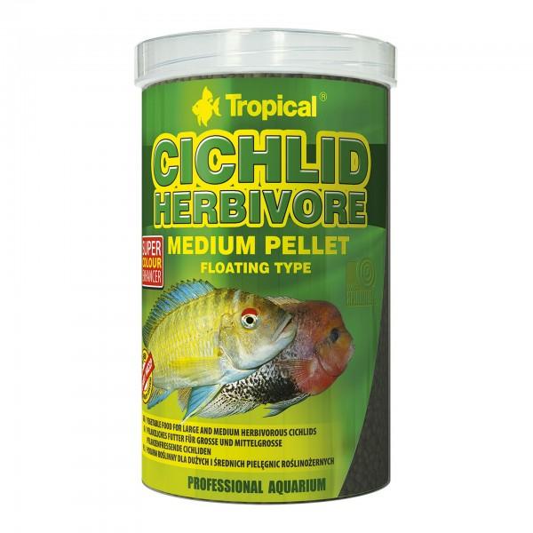 Fischfutter TROPICAL Herbivore Medium Pellet, 1 Liter
