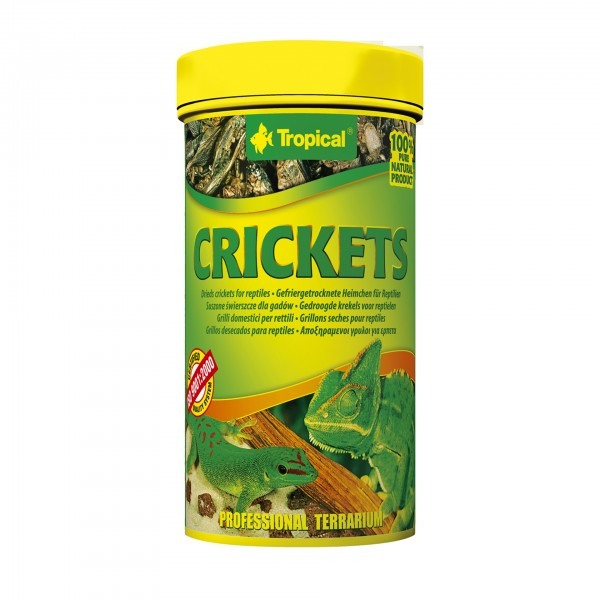 "Tropical Reptilienfutter Gefriergetrocknete Heimchen ""Crickets"" 250ml"