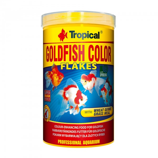 Gartenteichfischfutter Tropical Goldfisch Color Flakes 1 Liter
