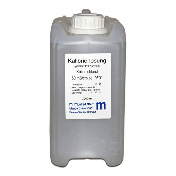 EC-Kalibrierlösung 50 mS/cm mit Analysezertifikat - Leitwertkalibrierlösung, 3 Liter