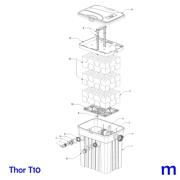 Explosionszeichnung mit Ersatzteilliste für den Teichfilter SÖLL Thor T10 (Bild Nr. 7)